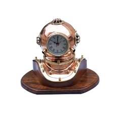 Copper Divers Helmet Clock