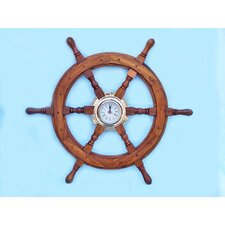 Deluxe Class Ship Wheel Clock
