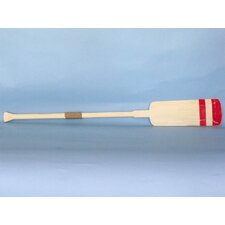 <strong>Handcrafted Model Ships</strong> Wooden Sunderland Squared Rowing Oar Wall Decor with Hooks