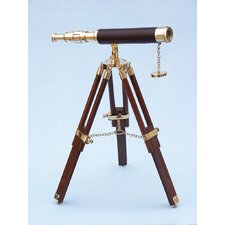 Floor Standing Leather Harbor Master Telescope