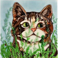 "8"" x 8""  Abby Short Hair Cat Tile"