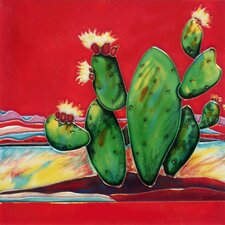 "8"" x 8"" Cactus Art Tile in Multi"