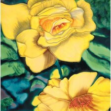 "<strong>En Vogue</strong> 8"" x 8"" Rose Art Tile in Yellow"