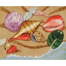"14"" x 11"" Shells Art Tile in Multi"