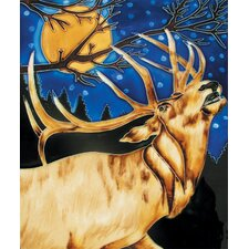 "14"" x 11"" Deer Art Tile in Tan"