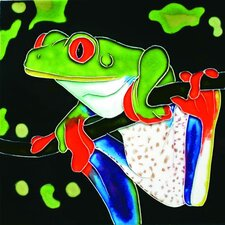 "<strong>En Vogue</strong> 8"" x 8"" Tree Frog Art Tile in Multi"