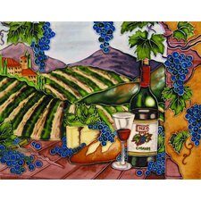"14"" x 11"" Enzo Blue Grapes with Arch Horizontal Art Tile"