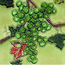 "<strong>En Vogue</strong> 8"" x 8"" Grapes Art Tile in Green"
