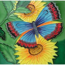 "<strong>En Vogue</strong> 8"" x 8"" Butterfly Art Tile in Multi"