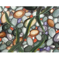 "14"" x 11"" Stones Under the Sea Art Tile in Multi"