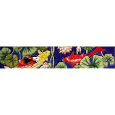 "<strong>En Vogue</strong> 16"" x 3"" Koi Pond Art Tile in Multi"