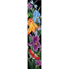 "16"" x 3"" Flowers I Art Tile in Multi"