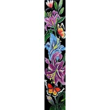 "16"" x 3"" Flowers III Art Tile in Multi"