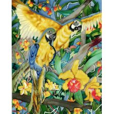 "<strong>En Vogue</strong> 14"" x 11"" Parrot Art Tile in Multi"