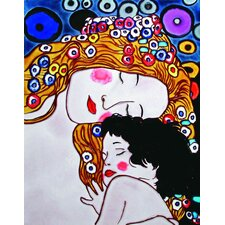 "14"" x 11"" Mom and Child Art Tile in Multi"