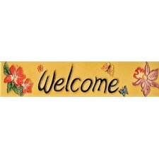 "<strong>En Vogue</strong> 16"" x 3"" Welcome Art Tile in Yellow"