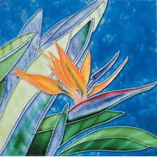 "<strong>En Vogue</strong> 8"" x 8"" Bird of Paradise Art Tile in Multi"