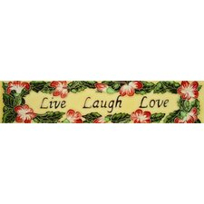"16"" x 3"" Live Laugh Love Art Tile in Multi"