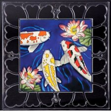 "12"" x 12"" Frame - Kois Art Tile in Multi"