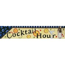 "16"" x 3"" Cocktail Hour Art Tile in Multi"