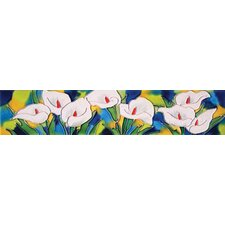 "16"" x 3"" Calla Lilies Art Tile in White"