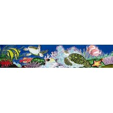 "16"" x 3"" Turtle Horizontal Art Tile in Multi"
