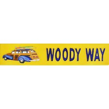 "<strong>En Vogue</strong> 16"" x 3"" Woody Way Art Tile in Yellow"