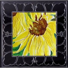 "<strong>En Vogue</strong> 12"" x 12"" Frame - Sunflowers Art Tile in Yellow"