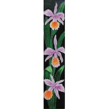 "16"" x 3"" Purple Iris Art Tile in Multi"