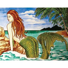 "14"" x 11"" One Big Mermaid Art Tile in Multi"