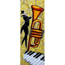 "16"" x 6"" Tenor Saxophone with Piano Way Art Tile in Multi"