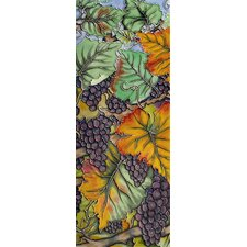 "16"" x 6"" Grape Tree Art Tile in Multi"