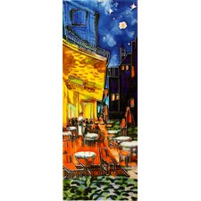 "16"" x 6"" Cafe Terrace at Night Art Tile in Multi"