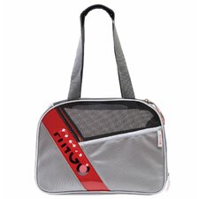 Argo City-Pet Medium Airline Approved Pet Carrier in Gray with White Trim