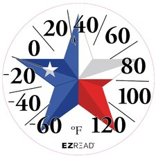 Texas Flag Dial Thermometer