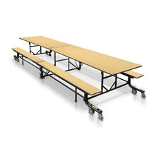 Mobile Folding Cafeteria Table