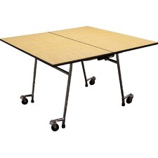Mobile Folding Cafeteria Square Table Adjustable Height