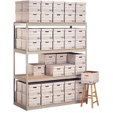 Record Storage 4 Shelf Shelving Unit Starter