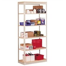 "Single Rivet 84"" H 6 Shelf Shelving Unit Add-on"