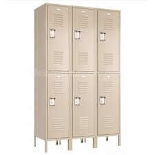 Recessed Double Tier 3 Wide Locker (Unassembled)