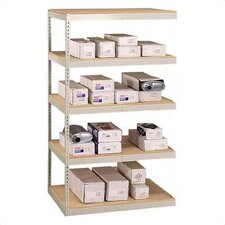 "72"" & 96"" Wide Double Rivet Units (with Center Support) - 4 Shelf Add-On Unit, w/ Channel Beams"