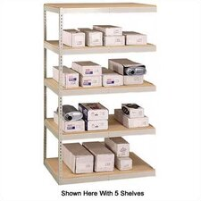 "<strong>Penco</strong> 72"" & 96"" Wide Double Rivet Units (with Center Support) - 5 Shelf Add-On Unit, No Channel Beams"