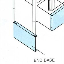 End Bases, Single Row - for Lockers with Legs
