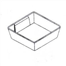 "Clipper Specialty Shelving - Plastic Bins For Drawers with 4"" Drawer Fronts"