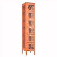 Invincible II Six Tier 1 Wide Locker (Unassembled)