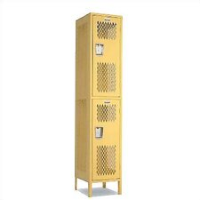 Invincible II Double Tier 1 Wide Locker (Unassembled)