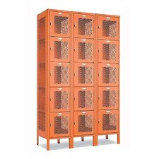 Invincible II Five Tier 3 Wide Locker (Unassembled)