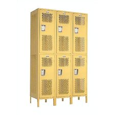 Invincible II Double Tier 3 Wide Locker (Assembled)