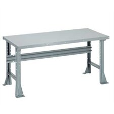 <strong>Penco</strong> Open Work Bench - Steel Top, Fixed Height with Shelf