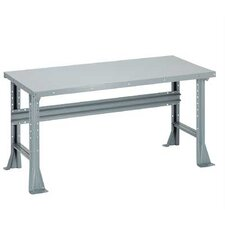 Open Work Bench - Tuff Top, Composition Core, Fixed Height with Shelf